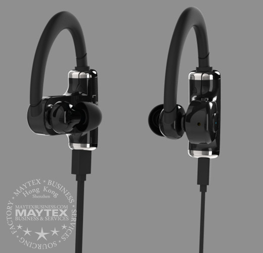 black earphone