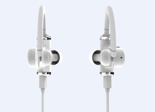 white earphone