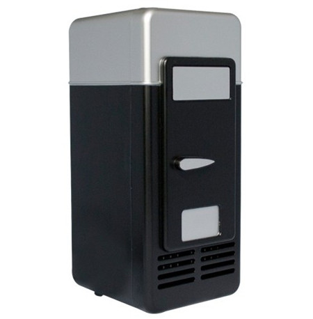 mini usb fridge black