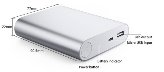 10400mAh Portable External USB Battery Charger Power Bank