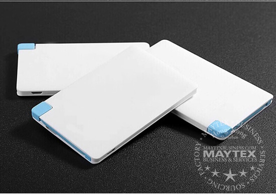Ultra Thin Credit Card Size  Portable Power Bank
