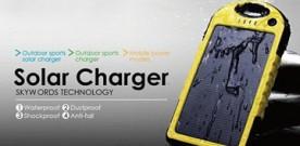 Product – 5000mAh Waterproof Dual USB Solar Power Bank