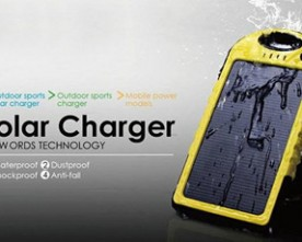 Product – 5000mAh Waterproof Dual USB Solar Power Bank
