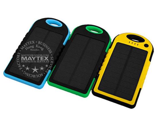 5000mAh Waterproof Dual USB Solar Power Bank