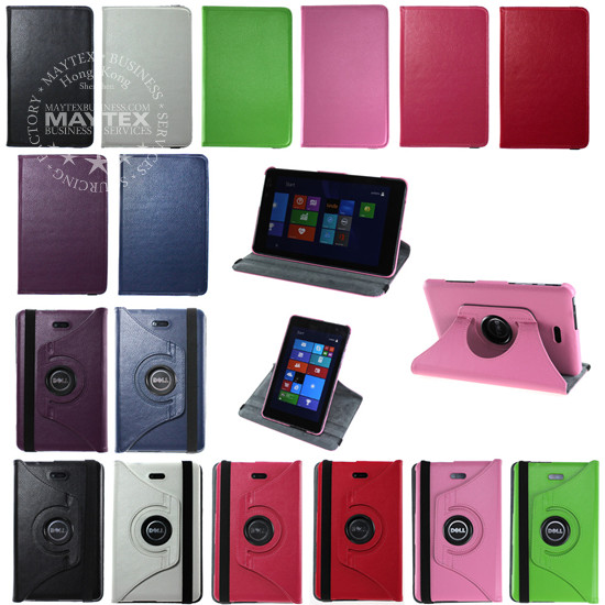 360 Rotating Lightweight Case Cover Stand For Dell Venue 8 Pro Windows Tablet