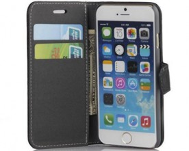 Product – Wallet Case Genuine Leather Stand Credit card Holder For iPhone6
