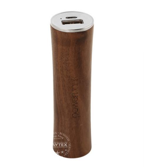 2600mAh Wooden Portable Power Bank