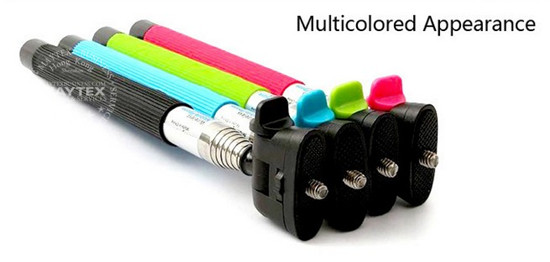 Monopod Selfie Stick With Bluetooth Shutter For iOS & Android Devices