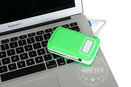 9000mAh Built-in Micro USB Cable Power Bank