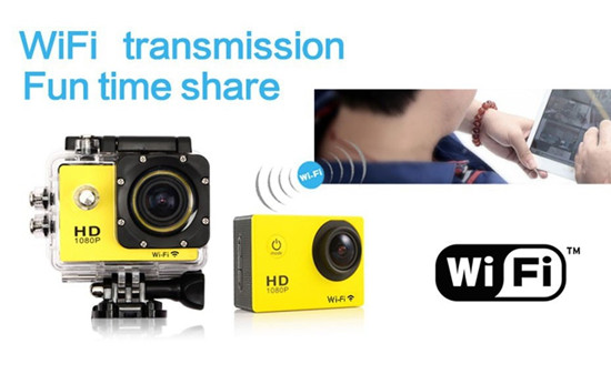 1080P HD Sport Camera with Wifi Function
