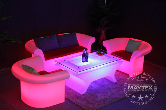 Fabulous Glowing Led Lighting Sofa And Table