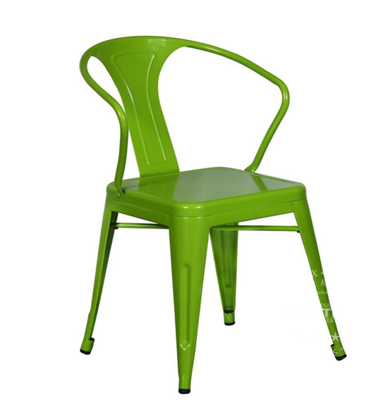 Tolix Style Bar Chair With Back